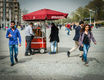 Simit seller in the Taksim square Royalty Free Stock Images