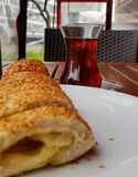Simit. With cheese Stock Photos