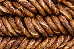 Simit, Traditional Turkish Bagels Royalty Free Stock Photo