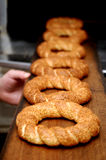 Simit turco do alimento Imagem de Stock