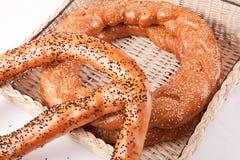 Simit. Turkish traditional sesame bagels. - Simit Stock Image