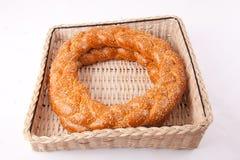Simit. Turkish traditional sesame bagels. - Simit Royalty Free Stock Image