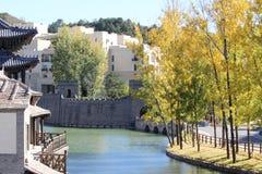Simitai część wielki mur rzeka Fotografia Stock