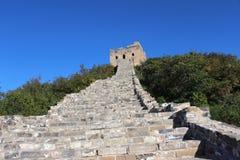 Simitai mooi deel van Grote Muur Peking Azië Stock Afbeeldingen