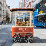 Simitkar in Istanboel Stock Afbeelding