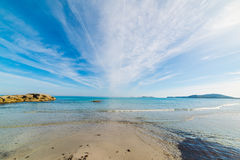 Simius beach on a sunny day Royalty Free Stock Photography