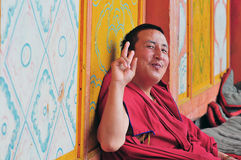 Simling Monk Stock Image