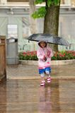 Simling in the rain Royalty Free Stock Photos