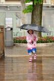 Simling sous la pluie Photos libres de droits