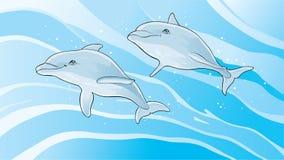 simma för delfiner royaltyfri illustrationer