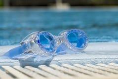 simma för goggles Royaltyfri Fotografi