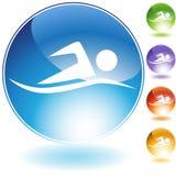 simma för knappar Arkivfoto