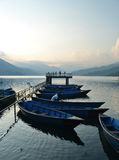 Simma för Nepal Pokhara fartygfolk Arkivfoto