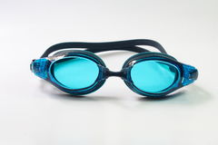 Simma skyddsglasögon på vit bakgrund Fotografering för Bildbyråer