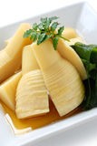 Simmered bamboo shoots. Wakatakeni,simmered young bamboo shoots with wakame(seaweed), japanese traditional cuisine Stock Photography