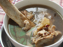 Simmered beef bones medical soup royalty free stock image