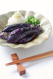 Simmered eggplants, japanese food Stock Photography