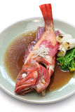 Simmered fish japanese cuisine Stock Images