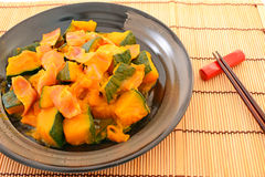 Simmered Japanese pumpkin Royalty Free Stock Photography