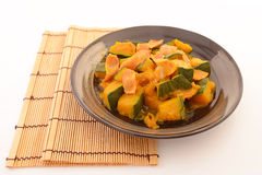 Simmered Japanese pumpkin Stock Images