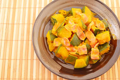 Simmered Japanese pumpkin Royalty Free Stock Images