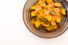 Simmered Japanese pumpkin Royalty Free Stock Photo