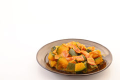 Simmered Japanese pumpkin Royalty Free Stock Image