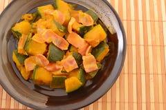Simmered Japanese pumpkin Stock Photo