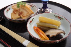Simmered Spring Vegetables, Japanese Food Royalty Free Stock Photography