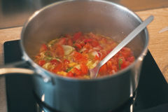 Simmered vegetables Stock Photos