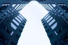Simmetria d'acciaio di affari Fotografie Stock