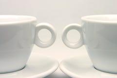 Simmetria delle tazze di tè Fotografie Stock Libere da Diritti