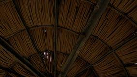 Simmetria di bambù del tetto Fotografia Stock