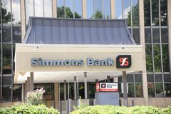 Simmons Bank Building Stock Photography