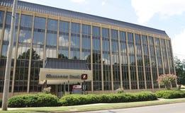 Simmons banka budynku szeroki kąt Obraz Royalty Free