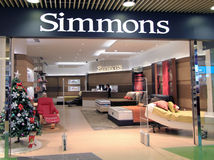 Simmons shop in hong kong Royalty Free Stock Photo