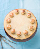 Simnel cake .Traditional English easter cake with marzipan. Stock Image