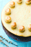 Simnel cake .Traditional English easter cake with marzipan. Stock Images