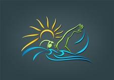simning vektor illustrationer