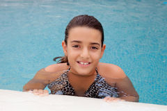 simning för barnflickapöl Royaltyfria Bilder