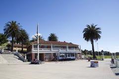 Simningbilaga på den Corio fjärden på Geelong royaltyfria bilder