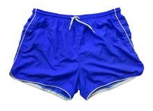 Simningkortslutningar - blått Royaltyfri Fotografi