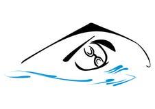 Simningsymbol Fotografering för Bildbyråer