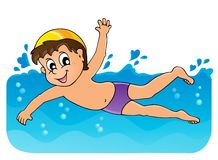 Simningtemabild 3 Arkivfoton