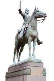 Simon Bolivar雕象 免版税图库摄影