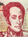 Simon Bolivar. On 1000 Bolivares 1998 Banknote from Venezuela. One of the most important leaders of Spanish America's successful struggle for independence Royalty Free Stock Images