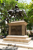 Simon bolivar. CARTAGENA - SEPTEMBER 13TH: Statue of simon bolivar on September the 13th, 2015 in Cartagena, Colombia. Cartagena is the 5th largest city in Stock Images