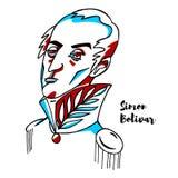 Simon Bolivar Portrait royalty free illustration