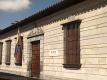 Simon Bolivar il luogo di nascita del liberatore a Caracas del centro fotografia stock libera da diritti