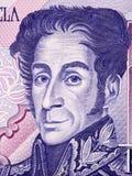 Simon Bolivar portret obrazy stock